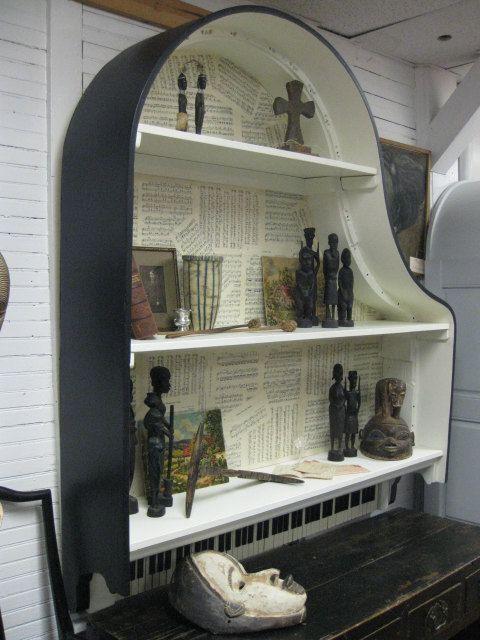 1930s Baby Grand Piano Book Shelf. $1,850.00, via Etsy.