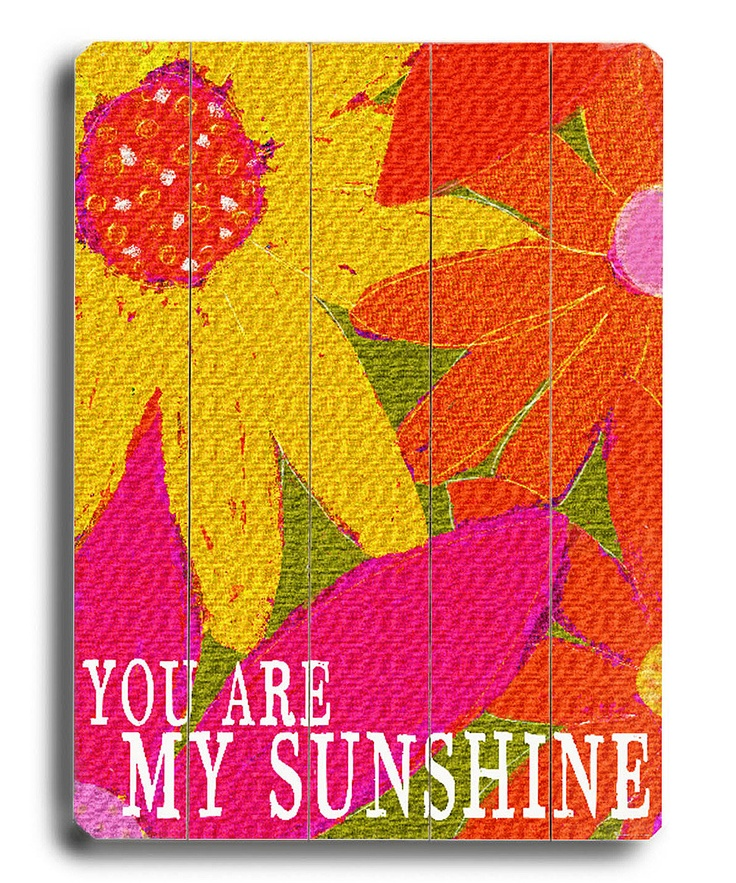 'You Are My Sunshine' Wall Art...I sing this to Jordan all the time!