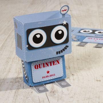 Verwonder iedereen en kondig de geboorte van jullie zoon aan met deze grappige robot!Deze kaart wordt los geleverd en dien je zelf samen te stellen.3D-model Uniek ontwerp Past in vierkante envelop