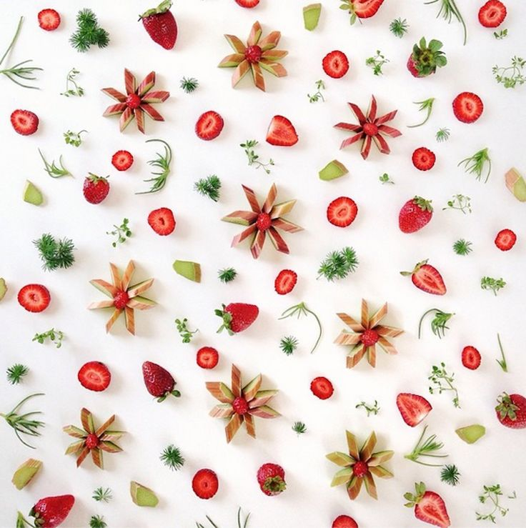 Los Angeles-based stylist Julie Lee arranges her food into collages so neat they look like prints. All of her ingredients come from either her urban garden, a neighborhood forage, or the Santa Monica Farmer's Market.