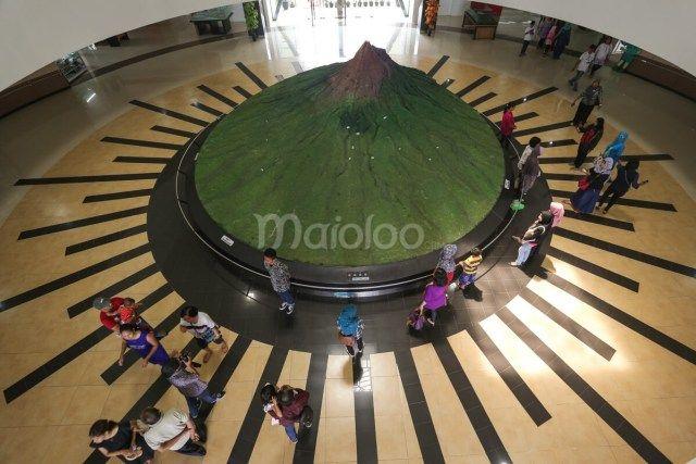 Miniatur peraga di Museum Gunung Merapi. (Benedictus Oktaviantoro/Maioloo.com)