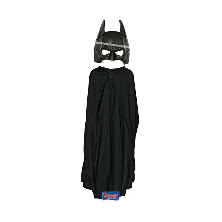 Heb jij altijd al een superheld willen zijn? Het kostuum bestaat uit een zwarte Batman cape en een zwart Batman masker. Peuters en kleuters zijn dol op verkleden en je als iemand anders voordoen. Het rollenspel helpt hun om gebeurtenissen te verwerken. Zo zie je maar dat verkleden niet alleen leuk is maar ook een functie heeft.