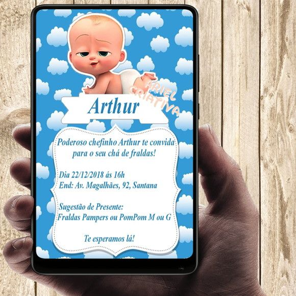 Convite Digital O Poderoso Chefinho Convites Digitais Poderoso