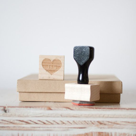 Our Initials  Custom Rubber Stamp with by AnastasiaMarieShop, $25.00