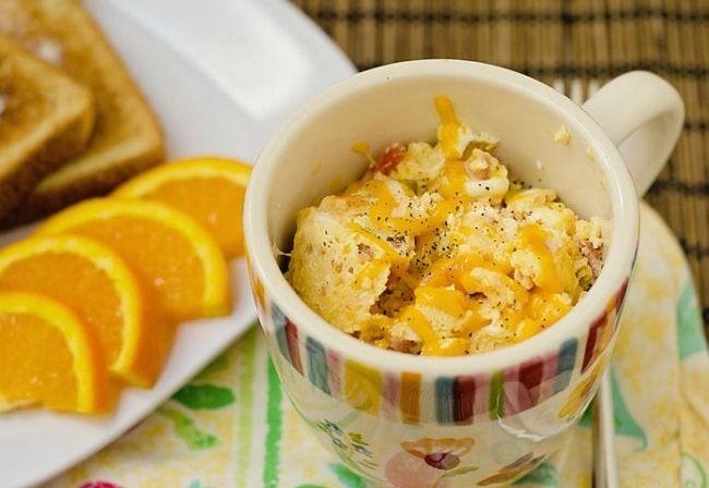 15 рецептов блюд, которые можно приготовить в кружке за 5 минут омлет с ветчиной за 2 минуты