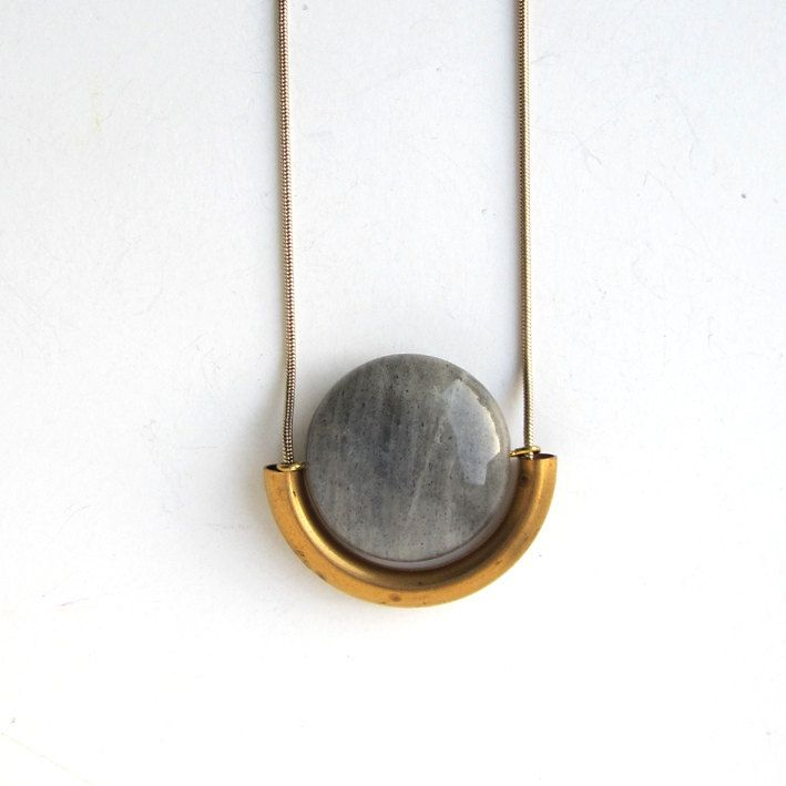 NEW -  labradorite stone necklace. €28.00, via Etsy.