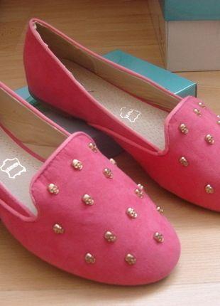 Kup mój przedmiot na #vintedpl http://www.vinted.pl/damskie-obuwie/balerinki/13110510-baleriny-rozowe-nowe-must-have-sezonu-skora