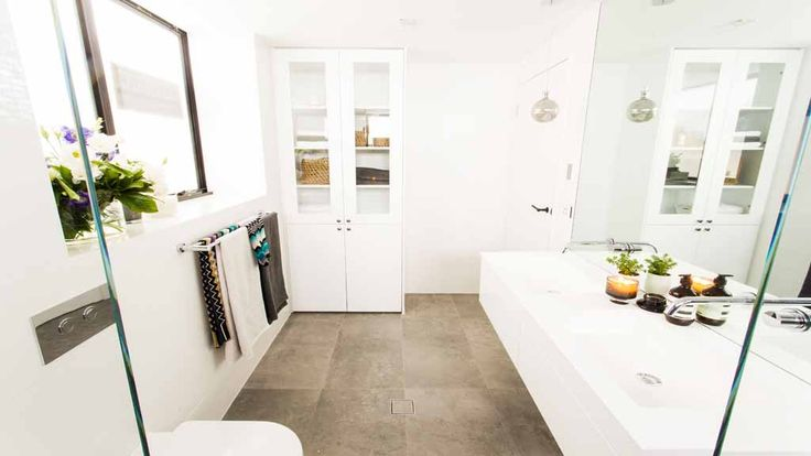 www.rifco.com.au Rifco Acqua vanity The Block: Triple Threat. Daz & Dea's bathroom