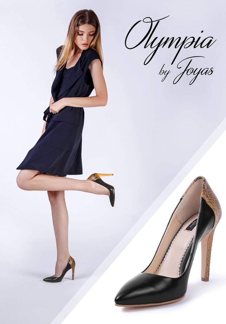 Black pumps with snakeskin perfect for chic attires @j