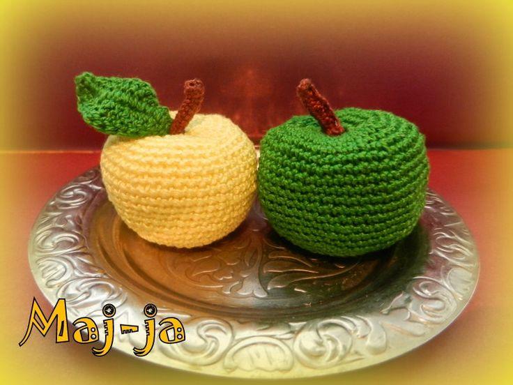 МАстер-класс вязаное яблочко