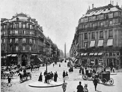 Rue de la paix 1878 vers la place vendôme