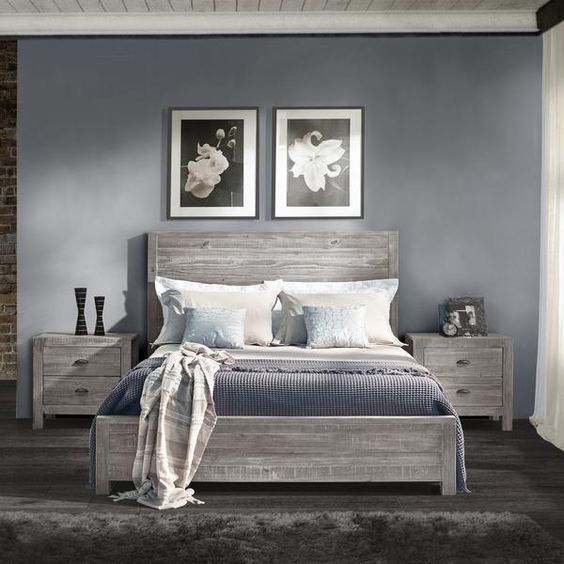 FREE SHIPPING  Give your bedroom a Rustic chic look with the warmth of this Solid Wood Bed. This design features a Panel headboard and foot board made of 100% Solid Pine wood from Southern Brazil, this bed features a sturdy Frame construction that can last for years. Featuring an Eco-friendly design, this bed has minimal impact on the environment as all wood comes from renewable forests.  Easy to Assemble Fits Standard FullSize Mattresses (not included). Box Spring required (not included)…