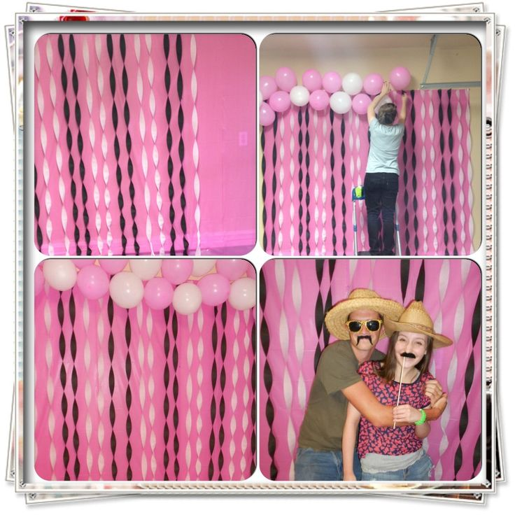 Fun photo booth backdrop i made for my sister 39 s 13th for 13th birthday party decoration ideas