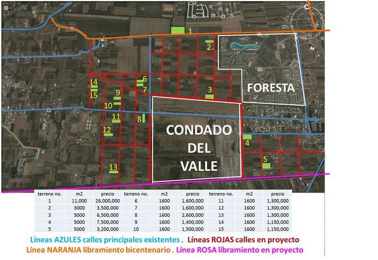 terrenos en zona diamante de Metepec, Edo. de México. a 20 minutos de Mexico DF santa fe