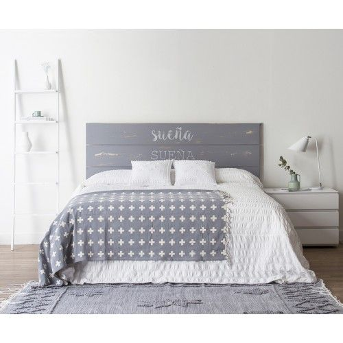 Bedroom white grey natural neutral style