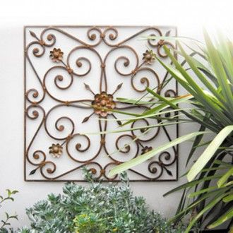 Wrought Iron Outdoor Wall Decor 8 best outdoor wall art images on pinterest | outdoor wall art