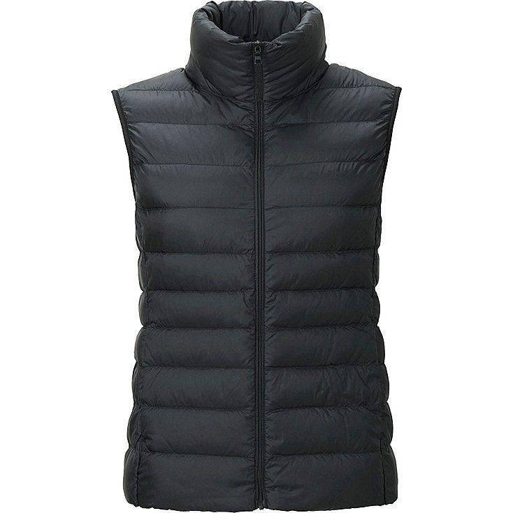 Women's Ultra Light Down Vest, BLACK, large