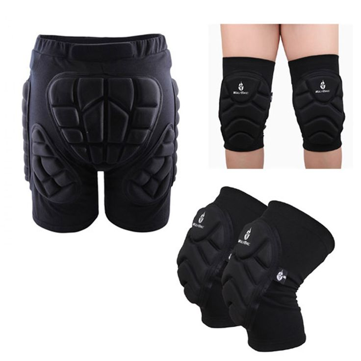 Aliexpress.com : Buy Ski Protective Hip Pad Padded Shorts+Protective Knee Pads Skiing Skating Snowboarding Impact Protection from Reliable padded shorts suppliers on YEL Outdoor Store