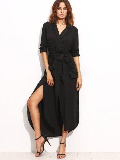 Asymmetrisches Cut Out Kleid 2017 in Schwarz