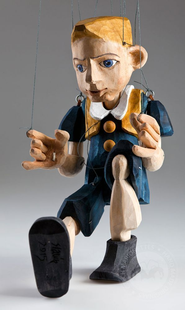 Fritz Wooden Hand Carved Czech Marionette Puppet in Toys & Hobbies, Preschool Toys & Pretend Play, Puppets   eBay