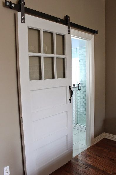 master bath remodel, bathroom ideas, home improvement, We found this old door and restored it