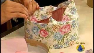 forração de caixas de papel com tecido - YouTube