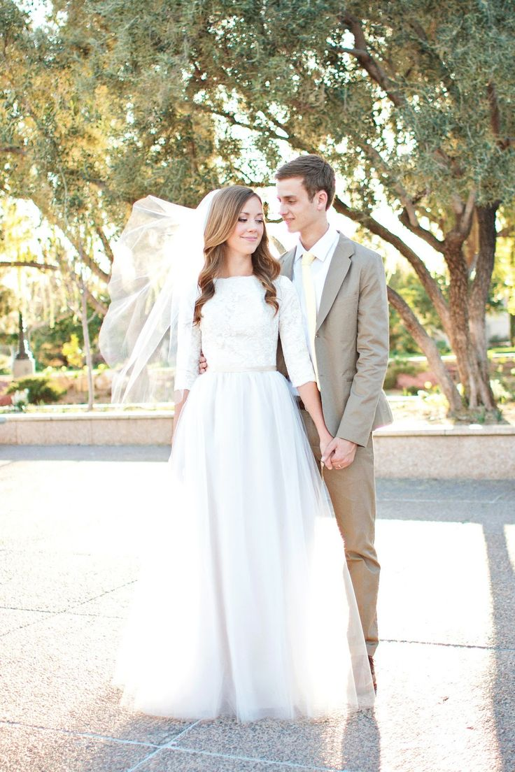 Lace & Tulle | Modest Wedding Gown http://www.pinterest.com/modestbride/boards/