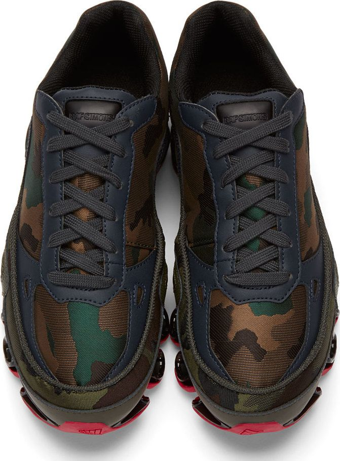 eb71adc3a ADIDAS BY RAF SIMONS - BOUNCE CAMOUFLAGE JACQUARD SNEAKERS - LUISAVIAROMA -  LUXURY SHOPPING WORLDWIDE SHIPPING - FLORENCE