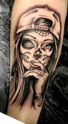 Best 25 badass tattoos ideas on pinterest skull tattoos for Girls with badass tattoos