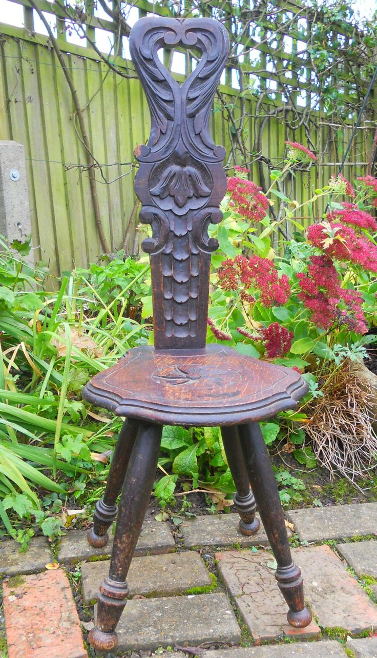 ANTIQUE VINTAGE CARVED WOODEN MILKING STOOL ~ SOLD ON MY EBAY SITE LUBBYDOT1