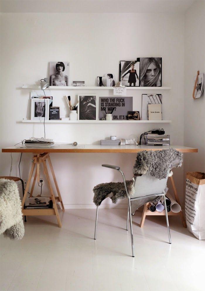 ♥ IKEA in the Office #ikea #shelves #storage #organization #office