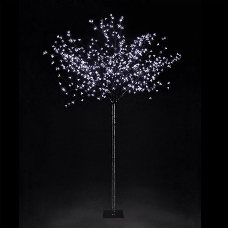 Holiday Artificial Christmas Tree Cherry Blossom Ice White 7 FT 2.2m Décoration #HolidayArtificialChristmasTree