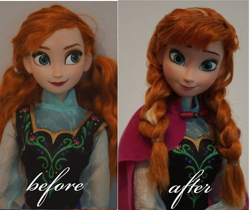 Amazing! She repaints the faces to look just like the movie!! OOAK dolls!!!