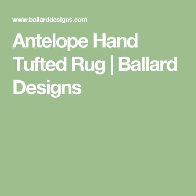 Antelope Hand Tufted Rug | Ballard Designs