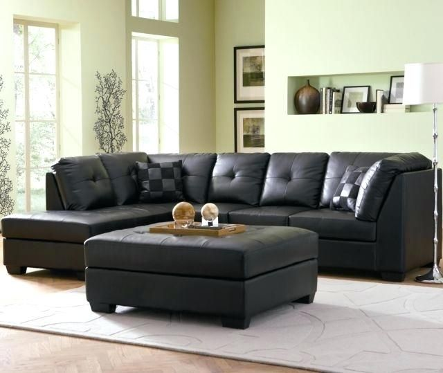 Magnificent Black Leather Sectional Couch Pictures Beautiful Black Leather Sectional Couch For Contemporary Black Leather Sectiona Sofa L Desain Sofa Set Sofa