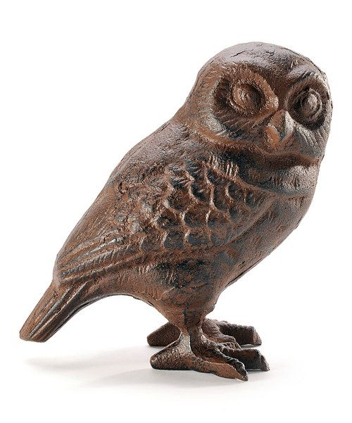 Take a look at the Cast-Iron Owl Figurine on #zulily today!