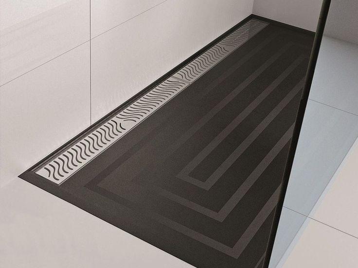 Scarico per doccia in acciaio inox PROSHOWER SYSTEM by PROGRESS PROFILES innovativo sistema per far defluire l'acqua da docce e lavandini