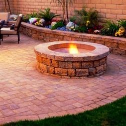 Retaining Walls And Fire Pits   Brick Paver Patio With Retaining Walls ,  Retaining Sitting