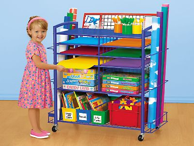 Storage For Rolls On The Side Would Be Good For Pool Noodles // Store U0026  Roll Organizer Cart At Lakeshore Learning