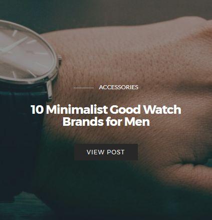 Best Minimalist Watch Brands for Men