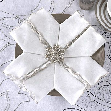 Easy Napkin-Folding Ideas for Your Holiday Table Our fun, step-by-step videos show you how to master simple -- and festive! -- napkin-folding techniques to brighten your holiday table.