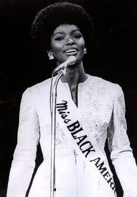 Miss Black America Gloria O. Smith, 1969. The 1st Miss Black America pageant was organized by J. Morris Anderson in Philadelphia, 1968, to protest the racial exclusion of Black women in the national Miss America pageant.