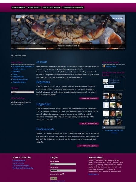 Poseidon free Joomla 2.5 template