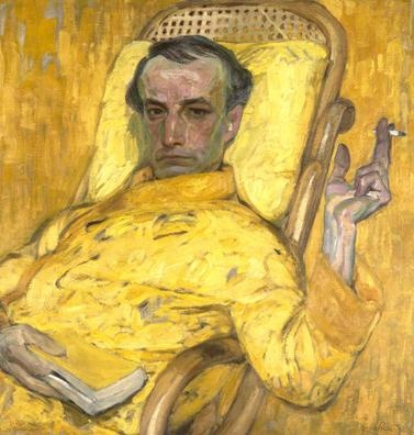 FRANTIŠEK KUPKA Czechoslovakian, 1871 - 1957 The Yellow Scale c. 1907 Oil on canvas 31 x 29 ¼ inches   The Museum of Fine Arts, Houston