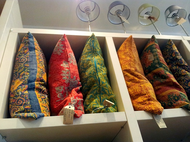 Quilted Indian cushions at Sally Bourne (Muswell Hill) - want one (or three)