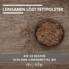 DIE 33 BESTEN SCHLANK-LEBENSMITTEL - Wir haben für Sie 33 ganz besondere Schlank-Lebensmittel zusammengestellt - zum Sattmachen, zum Ankurbeln des Stoffwechsels und zum Fettverbrennen. Leinsamen löst Fettpolster!