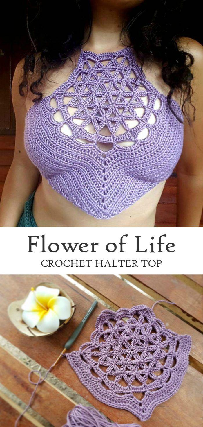Crochet Flower of Life Halter Top