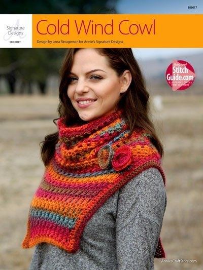 You will love this beautiful one-size-fits-all cowl from Annie's Signature Designs. Made using 3 balls of Red Heart Boutique Unforgettable worsted-weight yarn. Special stitch includes 3-double crochet