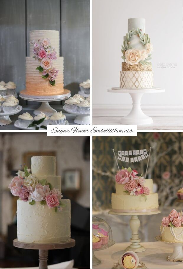 Find out what delicious dessert trends we'll be sinking our teeth into this year with today's guide to the top wedding cake trends for 2017! Sugar Flower embellishments and decorations.