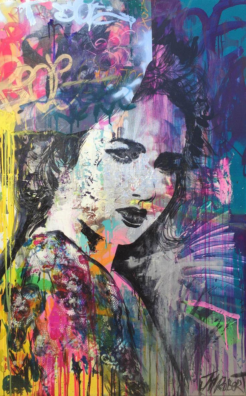 """JM Robert """"Elle pense à ce jour où..."""" #street #art"""
